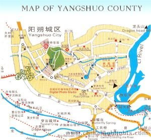 Map of Yangshuo